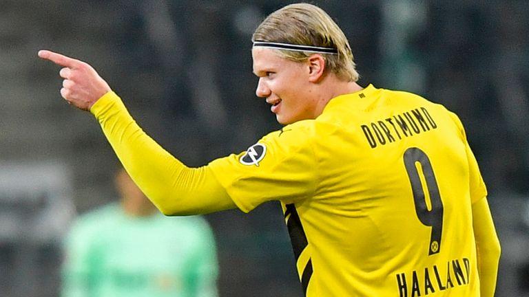 Erling Haaland scoret to ganger for Dortmund, men klarte ikke å stoppe lysbildet for å beseire AP