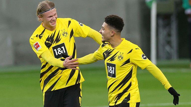 Erling Haaland, Jadon Sancho og Borussia Dortmund