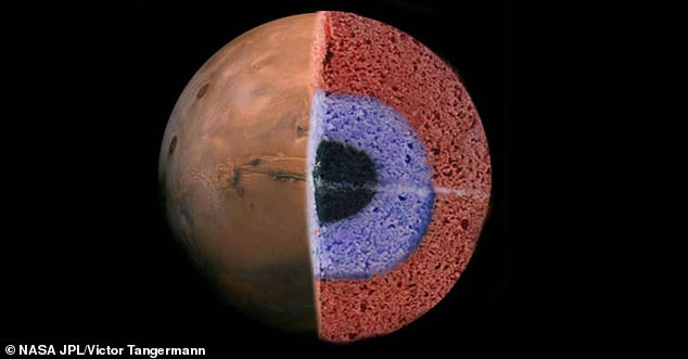 El análisis de las ondas primarias y secundarias causadas por cientos de maremotos sugiere que la corteza del planeta rojo está compuesta por tres capas 'parecidas a un pastel'