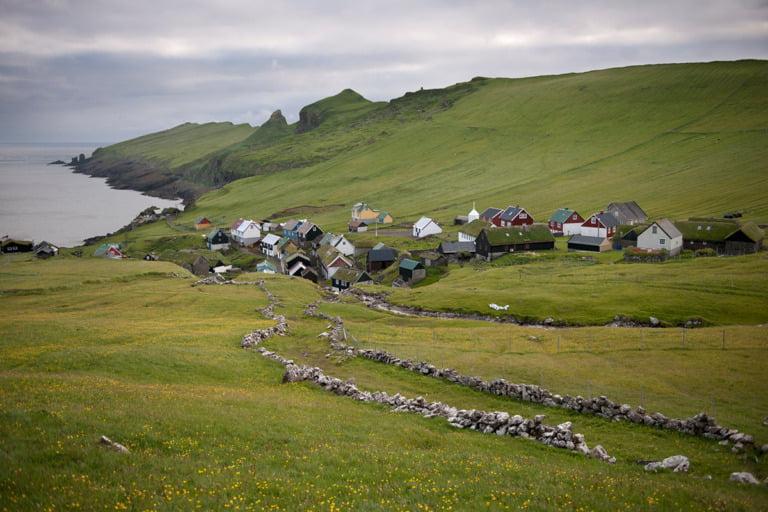 Mykines på de vestlige Færøyene