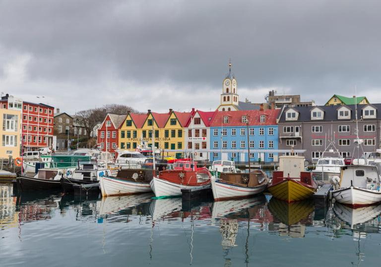 Havnen i Tórshavn på Færøyene