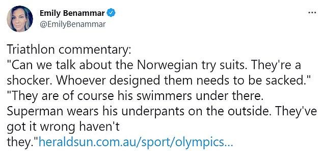 Sosiale mediebrukere kritiserte settet, som ble sett gjennom det utmattede svømmebeinet